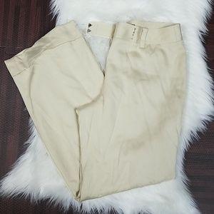 100% Silk Ann Taylor Light Cream Dress Pants